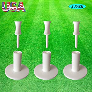 """Amy Sport Golf Tees Rubber Driving Range Mat Holder Value 3 Pack Size 1.5"""" 2"""", Practice Mats with Free 3 Pcs Step Down Tee Indoor Outdoor"""