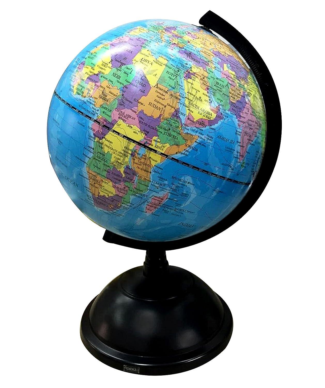 Swivel world globe educational 20cm diameter rotating earth map swivel world globe educational 20cm diameter rotating earth map stand geography gumiabroncs Image collections