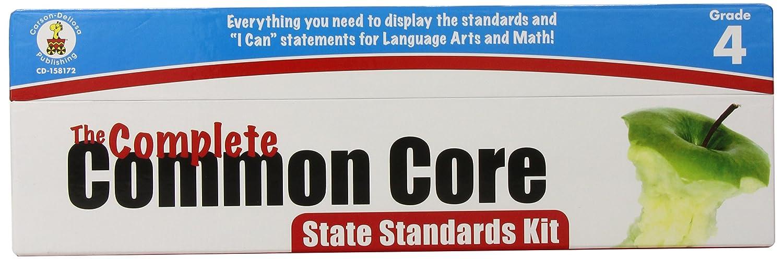 Carson Dellosa The Complete Common Core State Standards Kit Pocket Chart Cards Grade 4 158172