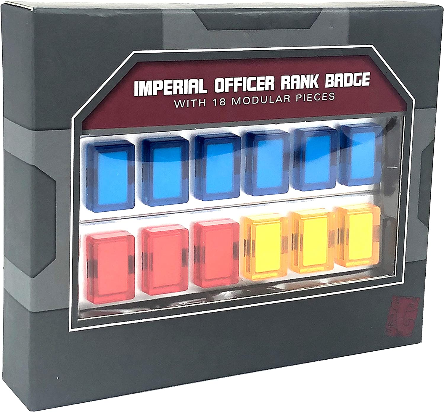 Galaxy's Edge Star Wars Empire Imperial Officer Rank Badge Set with 18 Modular Pieces