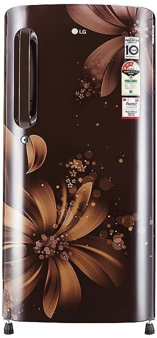 LG 190 L 3 Star Direct Cool Single Door Refrigerator GL B201AHAW.AHAZEBN, Hazel Aster, Smart Inverter Compressor  Refrigerators
