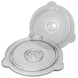 Cuchina Safe Vented Microwave Glass Lid; Perfect Lid for Bowls, Mugs, and Pots (8in and 9in - 2 Piece Set)