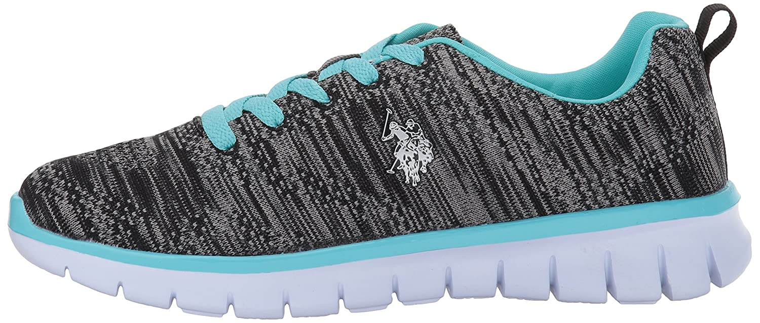 U.S. Polo Fashion Assn. Women's Women's Emery-k Fashion Polo Sneaker B01MV3SAM9 8.5 B(M) US|Black/Blue 0d4a21