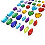 Squadare 7 Sheets Self-Adhesive Jewels Stickers