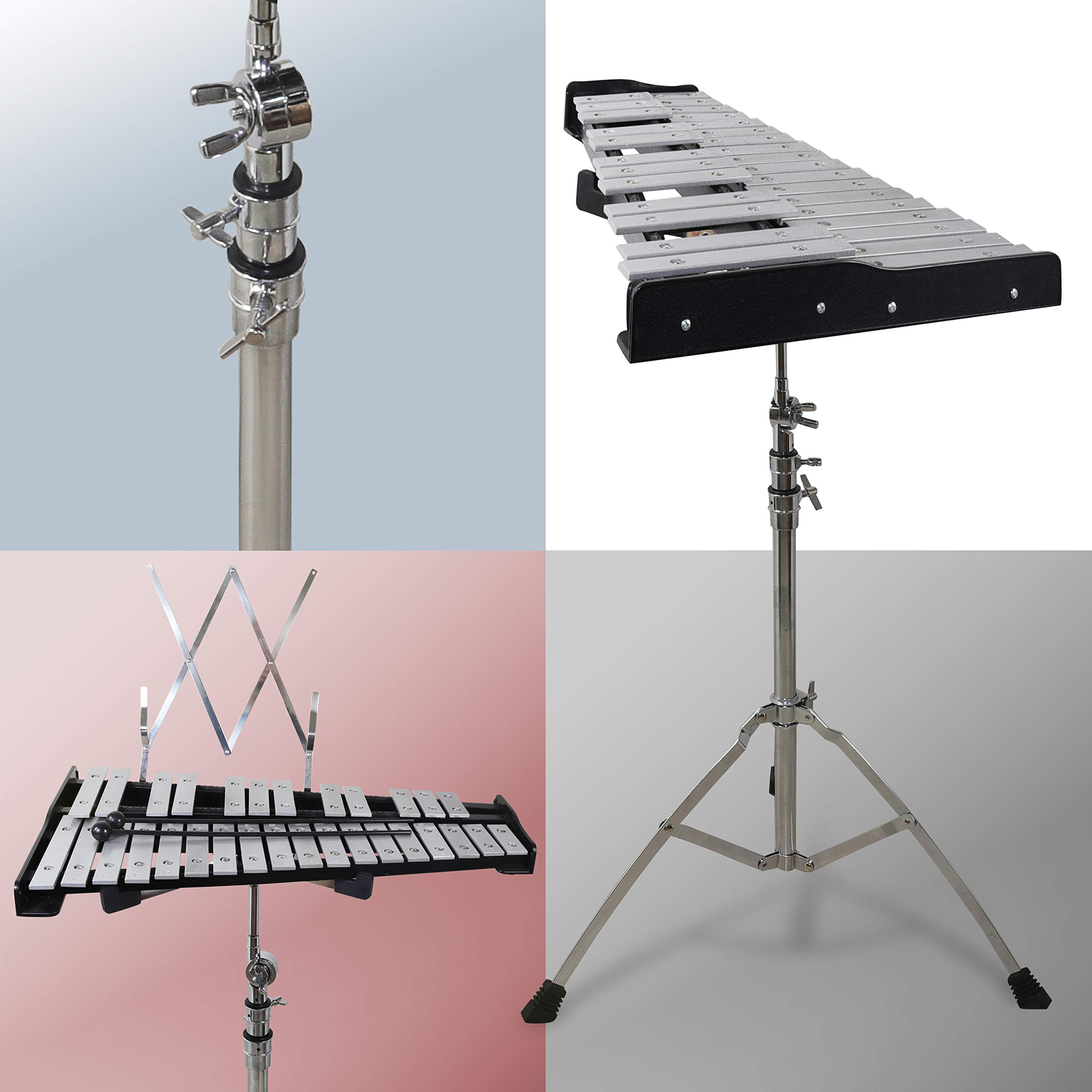 30 note Professional Glockenspiel - Metal Bell Kit Xylophone with Stand, Note Holder and Carrying Bag by inTemenos (Image #3)