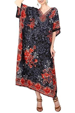 e9ce41b7d67 Kaftan Tunic Kimono Dress Ladies Summer Women Evening Maxi Party Plus Size  6-12
