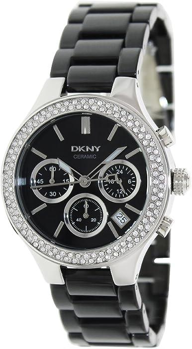 DKNY Ceramic Glitz Chronograph Black Dial Womens watch #NY4983
