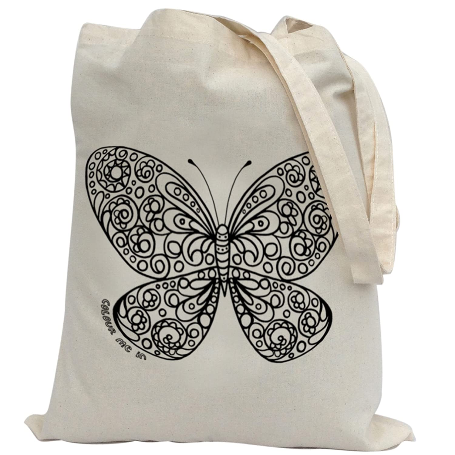 bags for kids to colour in printed outline kids craft butterfly