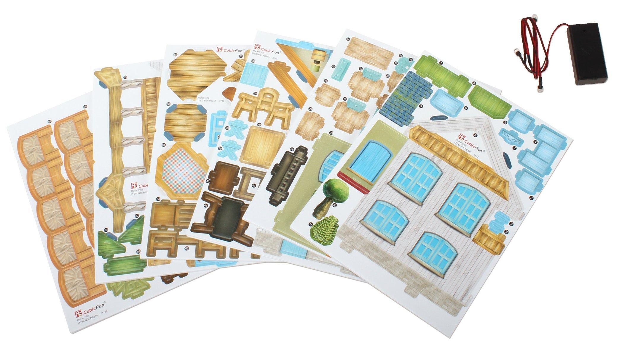 3D Puzzle Place Cubic Classic Rural Villa Dollhouse by 3D Puzzle Place (Image #5)