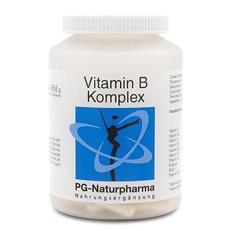 Vitamina B complejo vegano - 120 cápsulas veganas y de dosis alta con todas las 8