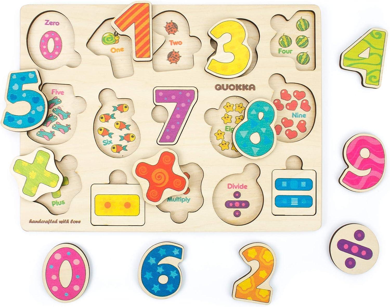 Giochi Montessori 1 Anno con Animali Quokka Puzzle in Legno Giochi Bambini 1 2 3-6 Regalo Giocattoli Bambini 2 Anni