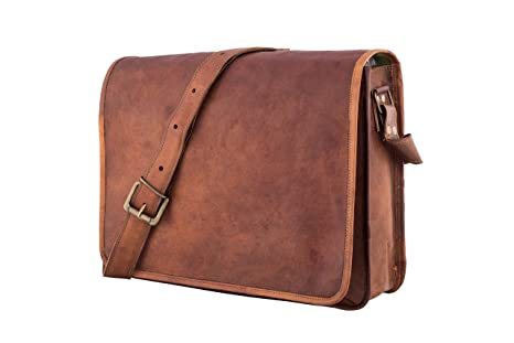 36b67ab25d Image Unavailable. Image not available for. Color  Leather Full Flap Messenger  Handmade Bag Laptop Bag Satchel Bag Padded Messenger Bag School ...