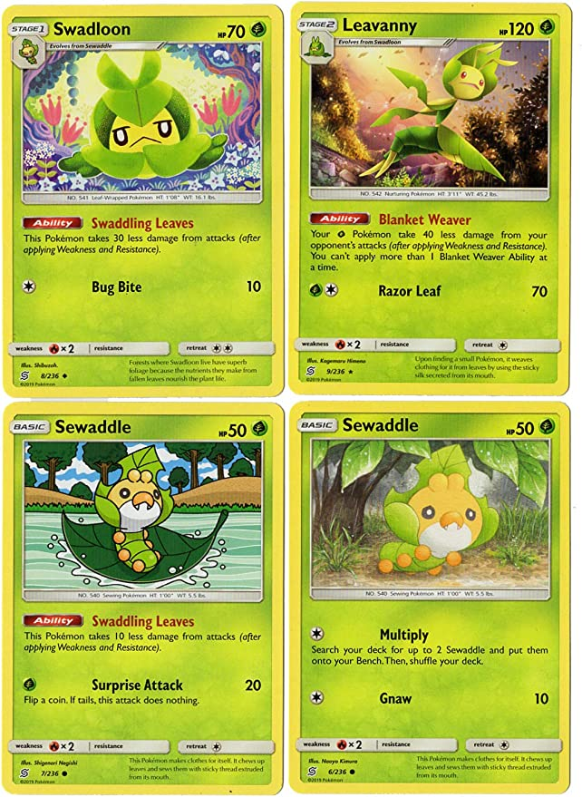 9//236 Leavanny Rare Reverse Holo Unified Minds Pokemon Card
