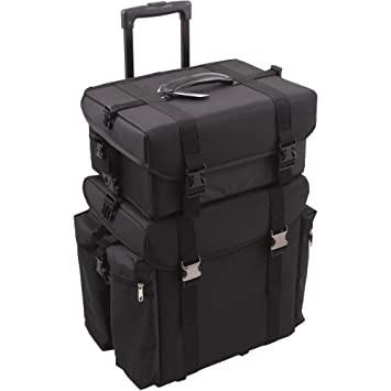 927314c24232 Sunrise Justcase T5272 2-in-1 Professional Soft Sided Hair Stylist Rolling  Makeup Cosmetic
