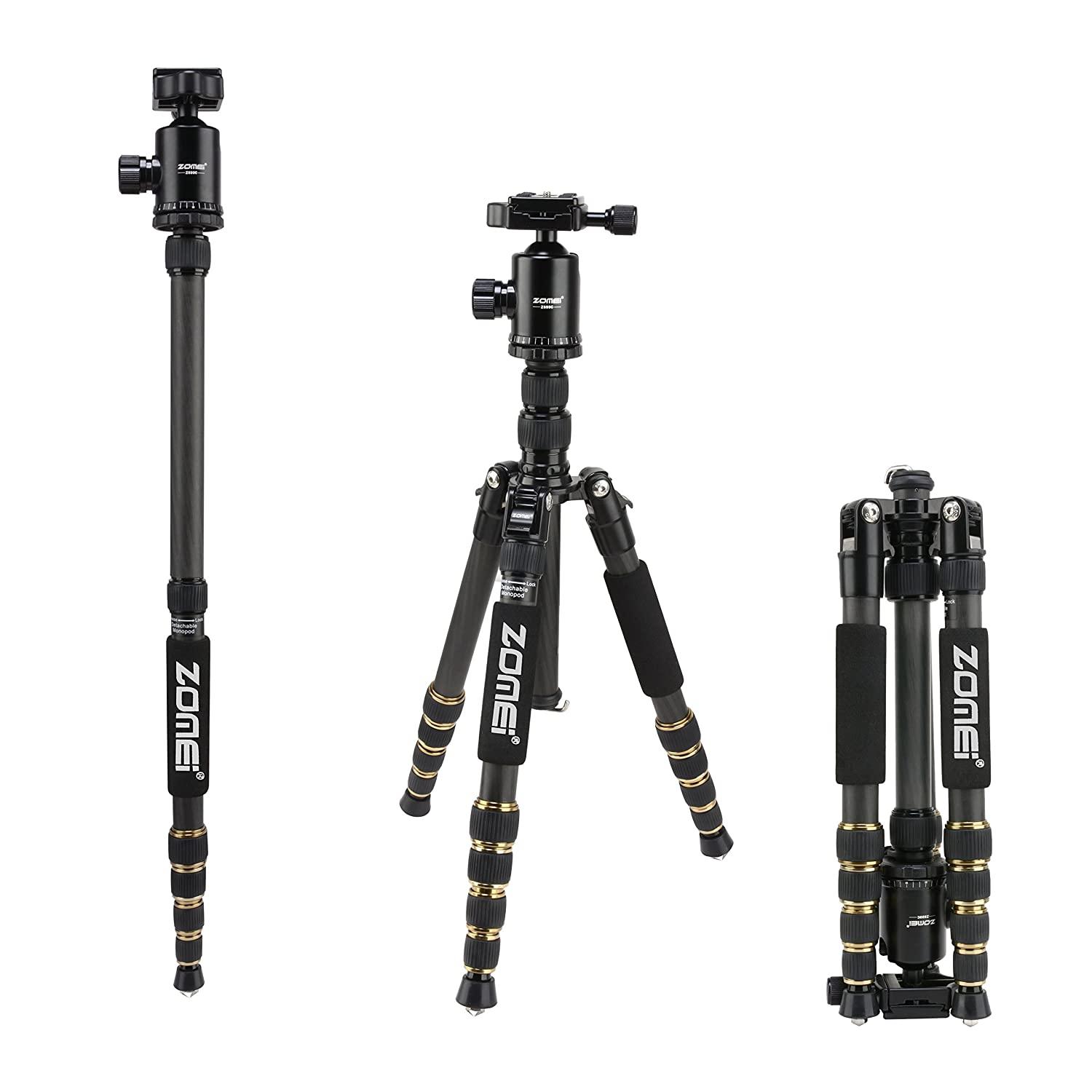 Travel Photography//Camera Monopod Three-Dimensional PTZ Handle Monopod Portable Carbon Fiber SLR Camera Monopod