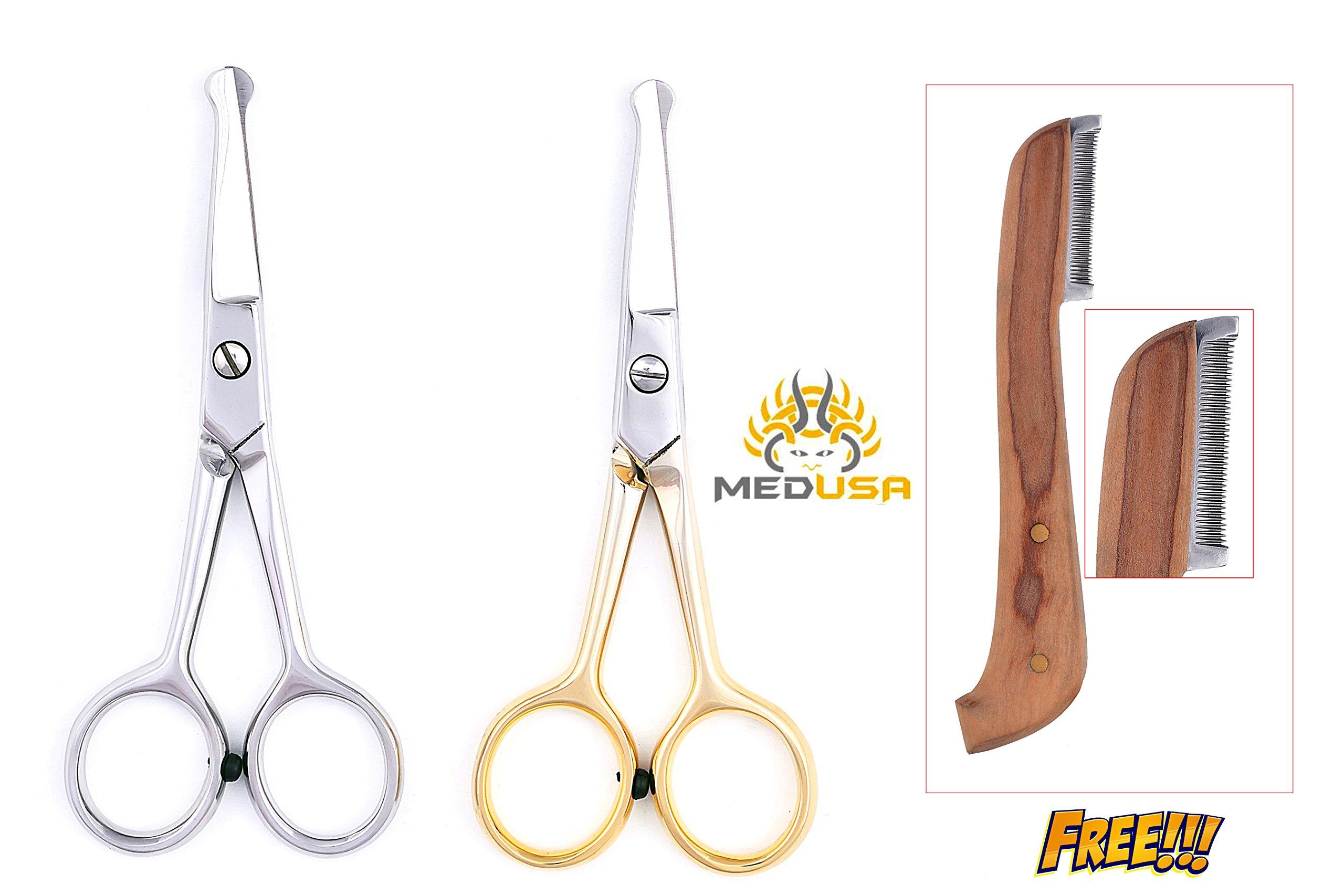 MedUSA Professional 4.5 Ball Tipped Japanese Stainless Steel Pet Grooming Scissor Shear (Full Set) by MedUSA