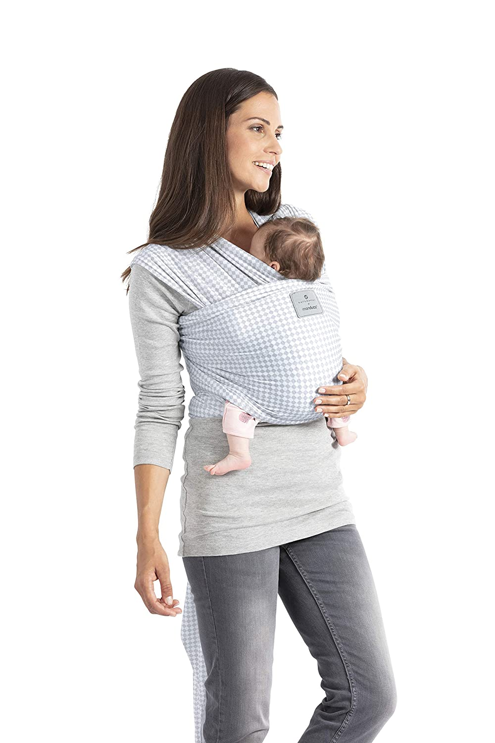 Lightgrey, 5,10m x 0,60m manduca Sling  Stretchy Baby Wrap /& Baby Carrier  GOTS Organic Certified Cotton Baby Product Suitable for Newborns /& Infants from Birth up to 15kg