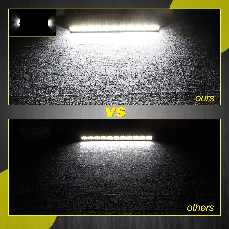 Wayup Quad Row 420W LED Work Light Off Road Light Spot Flood Combo Beam Driving Light Fog Light for Truck JEEP Wrangler ATV UTV Boat 30 Inch Side Shooter LED Light Bar