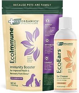 Vet Organics EcoEars Dog Ear Cleaner & EcoImmune Immune Support Supplement Bundle!
