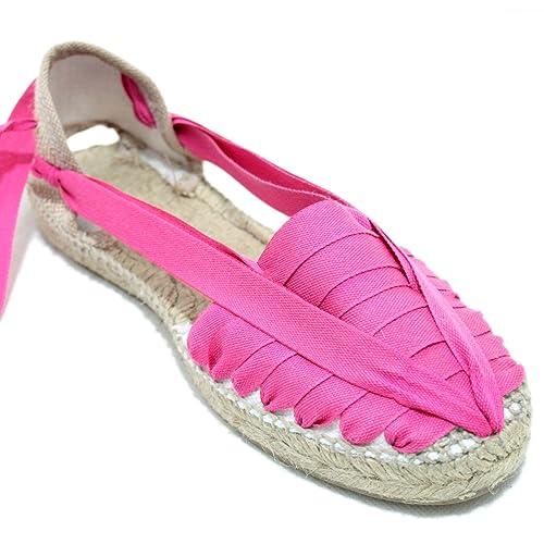 Alpargata Diseño Pintxo o Siete Vetas Fucsia: Amazon.es: Zapatos y complementos