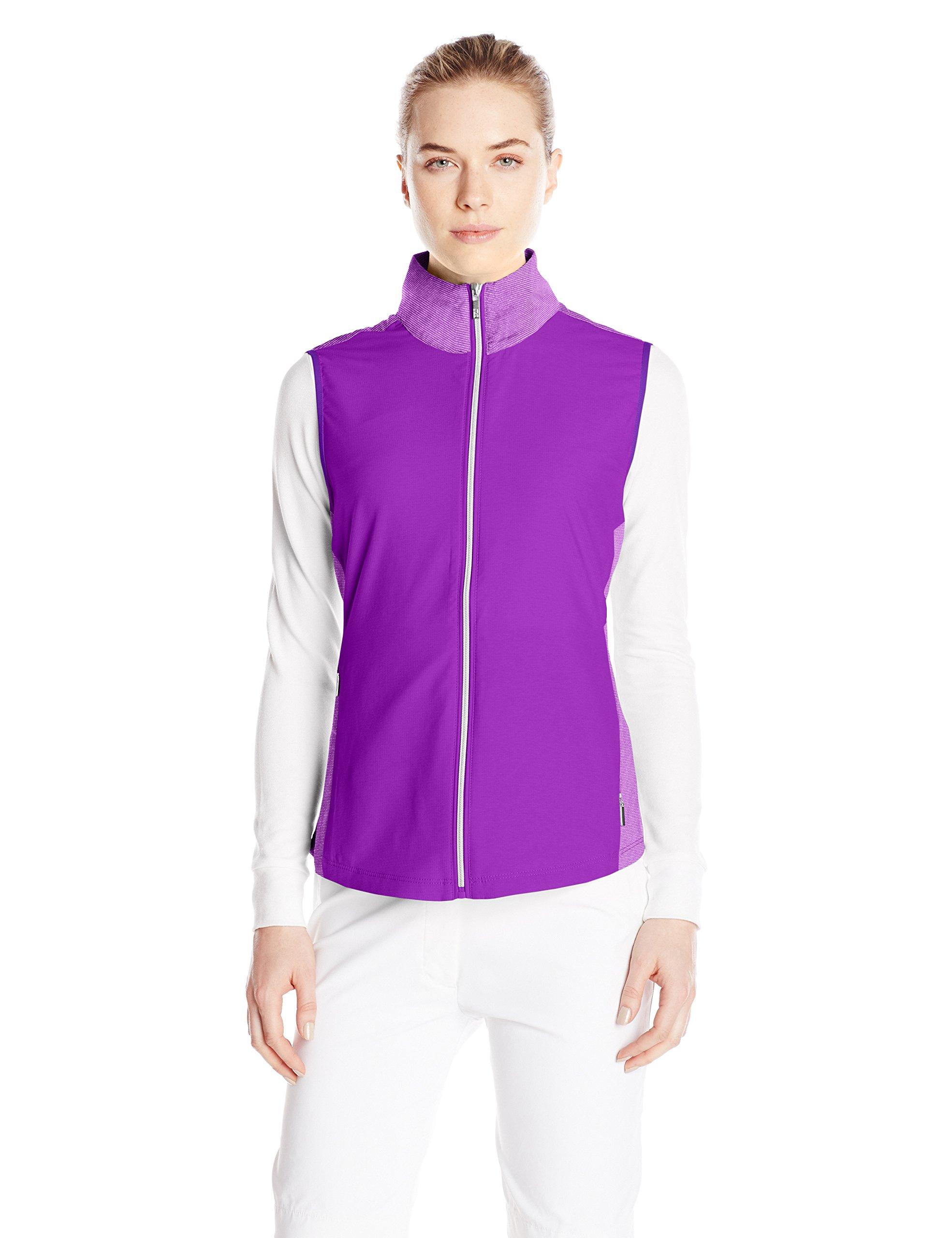 Cutter & Buck Women's CB Weathertec Laura Hybrid Vest, BlackBerry, Small by Cutter & Buck (Image #1)