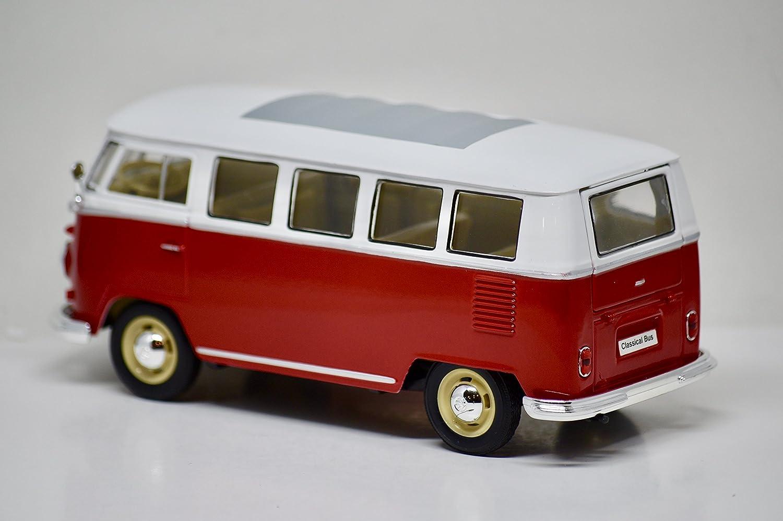 American Mint - プレミアムエディション - 1962 Volkswagen クラシカルバス - レッド&ホワイト - 1:24スケールダイカスト - 新品 B07DHYM4ZZ