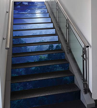 Amazon Com Stair Stickers Wall Stickers 13 Pcs Self Adhesive