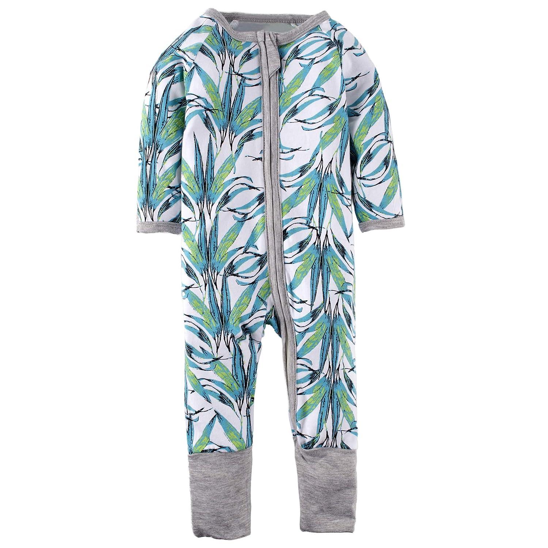 BIG ELEPHANT Beb/és o ni/ñas 1 Pieza manga larga ropa de dormir pl/átano impresi/ón cremallera Romper L17