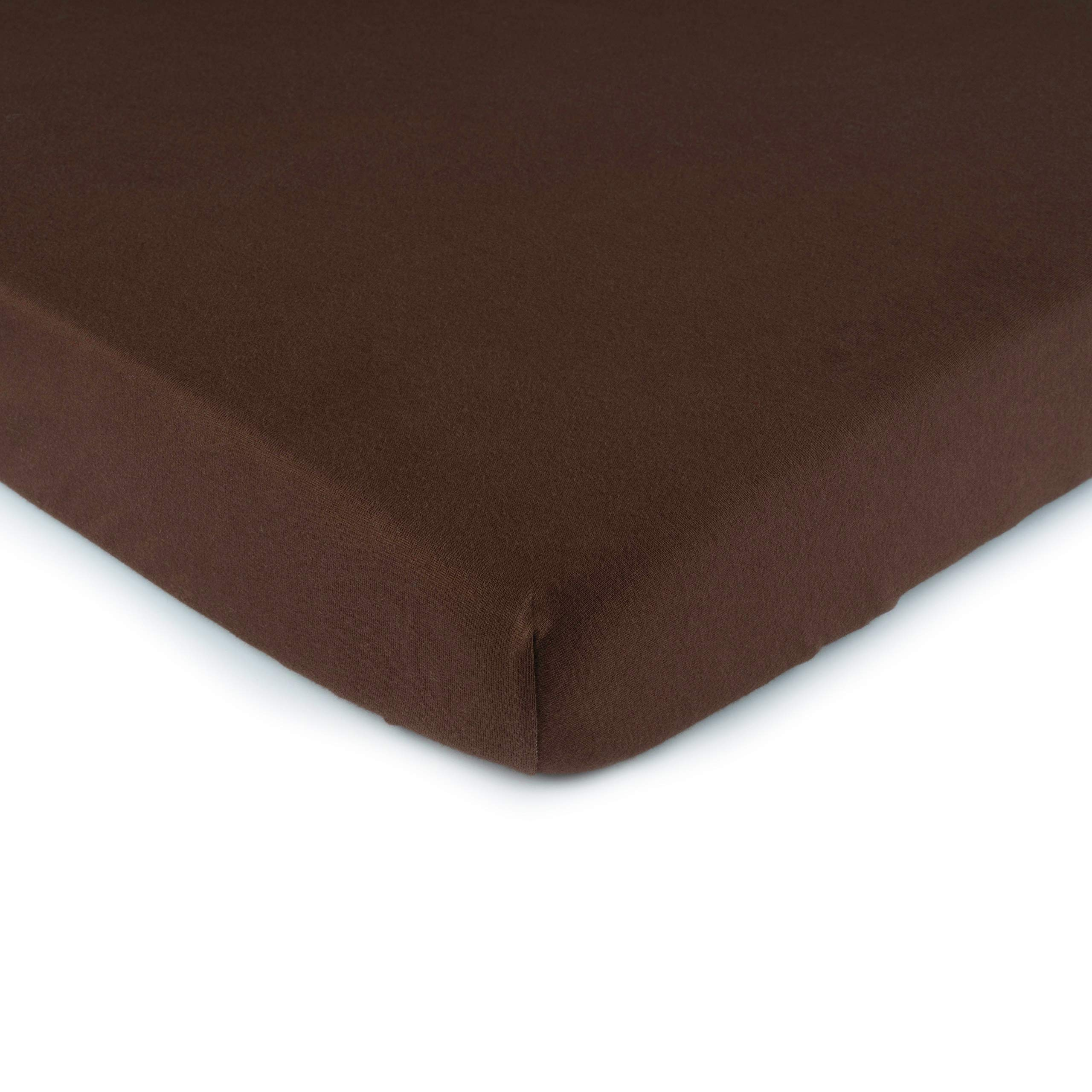 SheetWorld Fitted Cradle Sheet - Solid Brown Jersey Knit - Made In USA by SHEETWORLD.COM