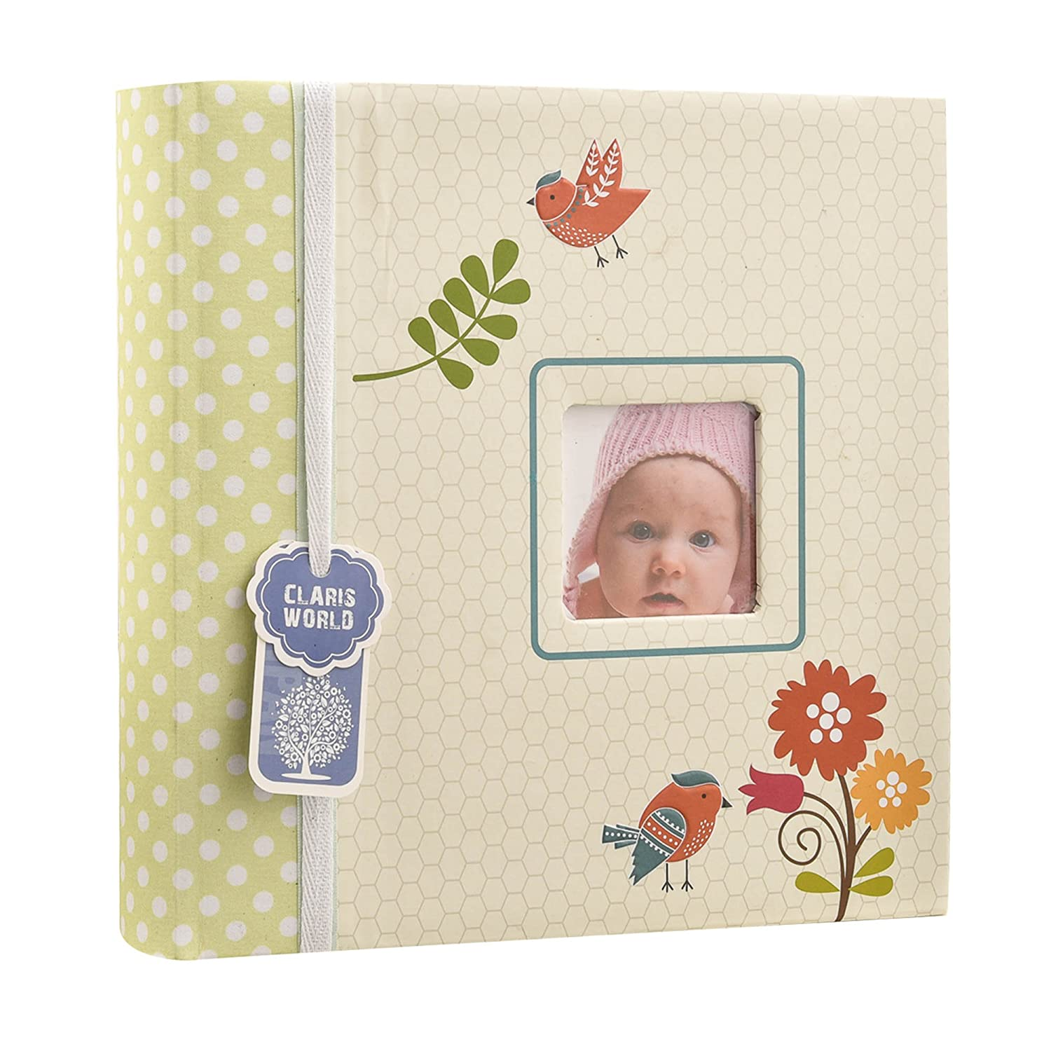 Baby Boy Blue Slip In Case Memo Photo Album 4 x 6'' For 200 Photos - Woodland Animals - Ideal Gift (Blue) ARPAN BA-1607