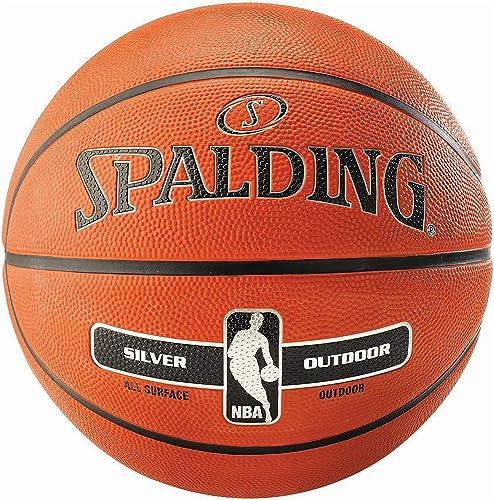 Pelota baloncesto SPALDING NBA Silver Outdoor (talla 7) - marrón ...