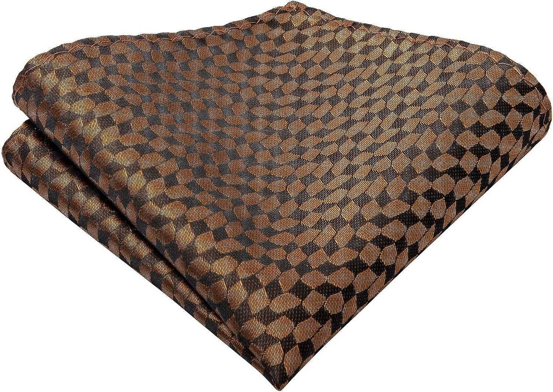 gemelli quadrato cravatta in tessuto jacquard di seta da uomo Set cravatta DiBanGu
