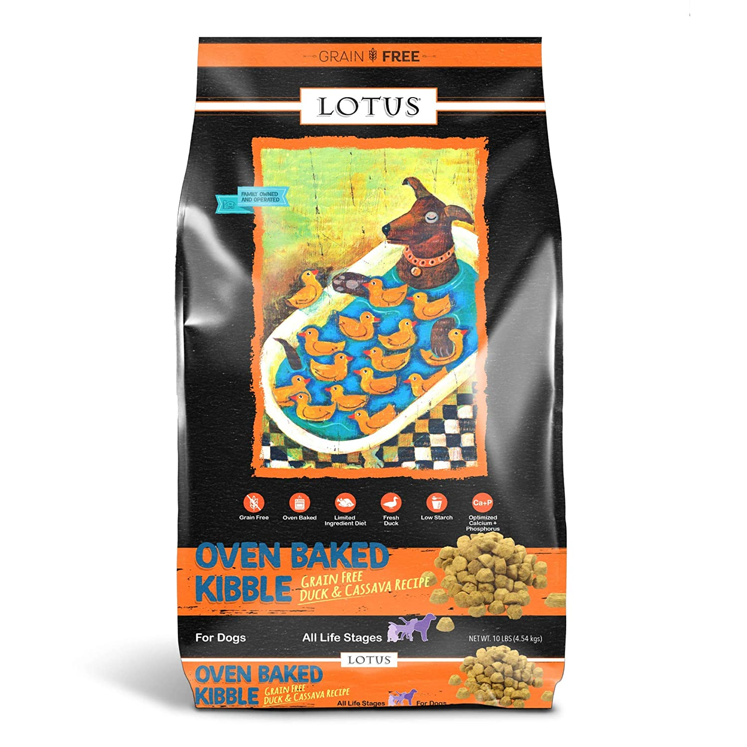Lotus Dry Dog Food, 10 Lb, Duck And Sweet Potato