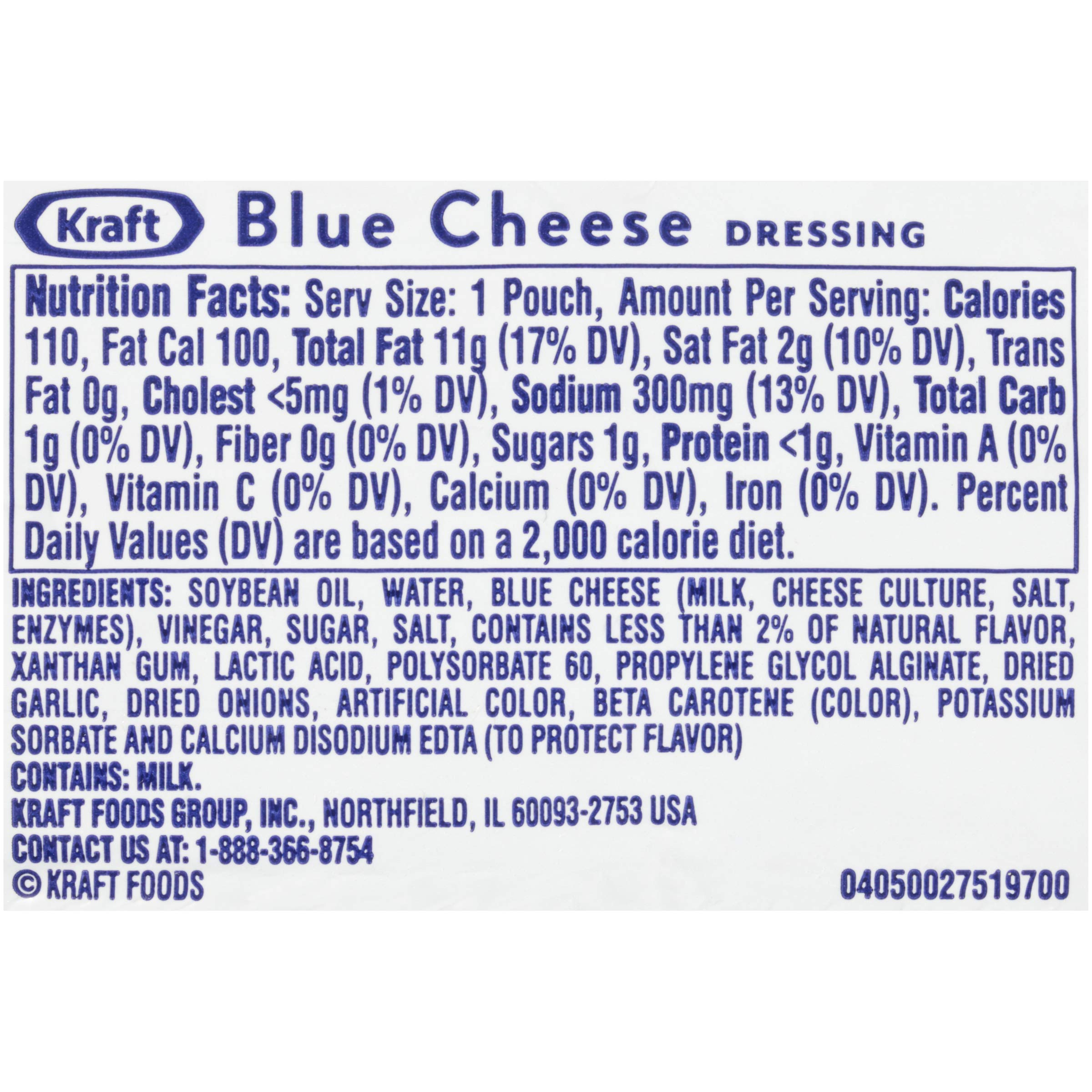 Kraft Blue Cheese Salad Dressing, 1-Ounce Packages (Pack of 100) by Kraft (Image #2)