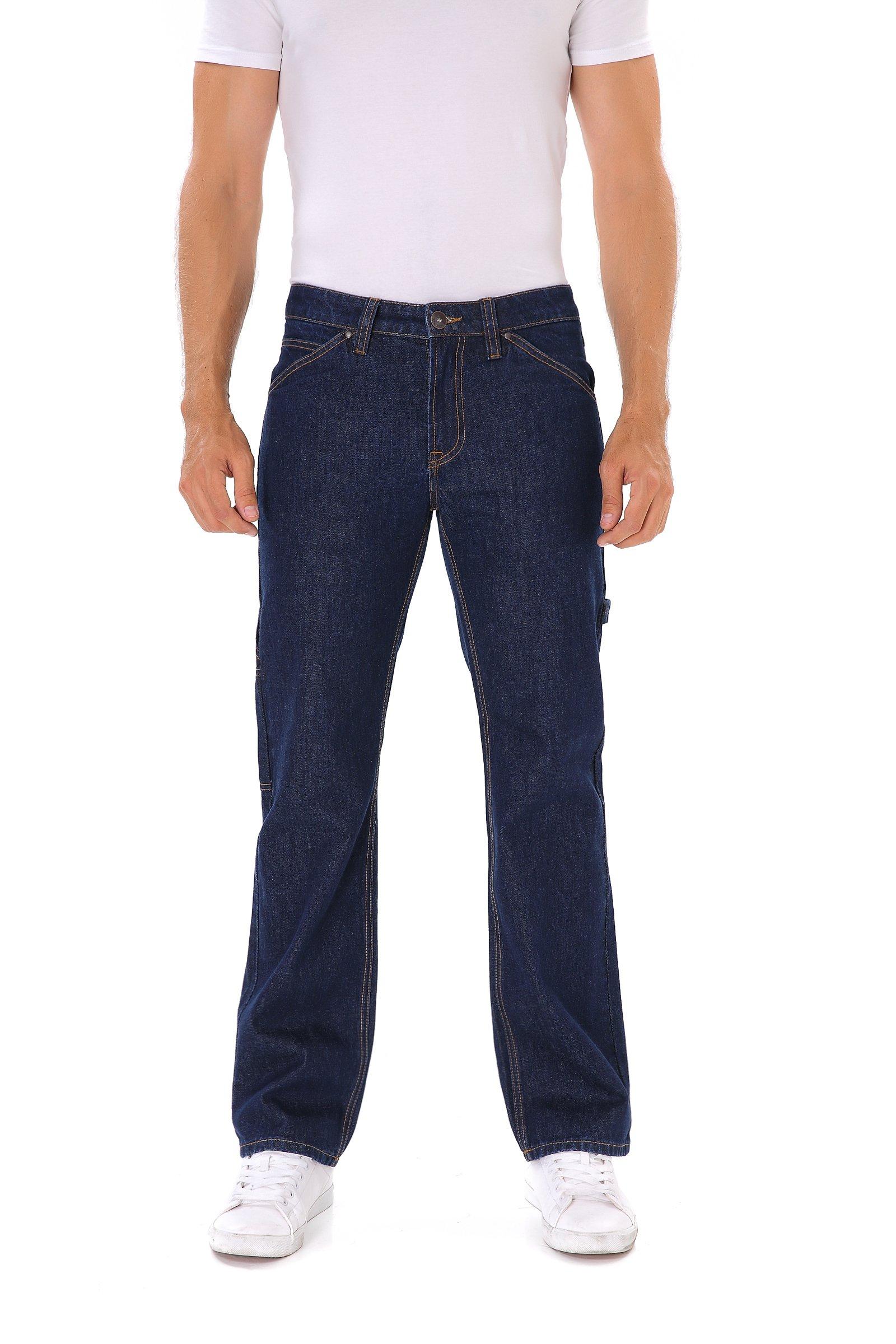Indigo alpha Carpenter Dark Navy Blue Denim Work Jeans(8020D,W31/L34)