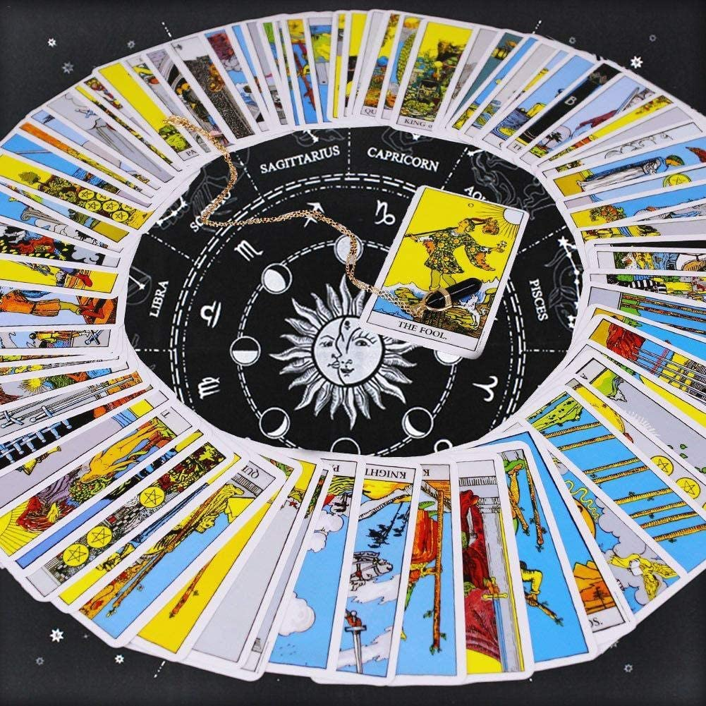 Tarot Special Tablecloth 12 Constellations Astrology Tarot Divination Card Tapestry Cloth Tablecloth for Tarot Enthusiasts Psychological Counselors Magicians Daily Households