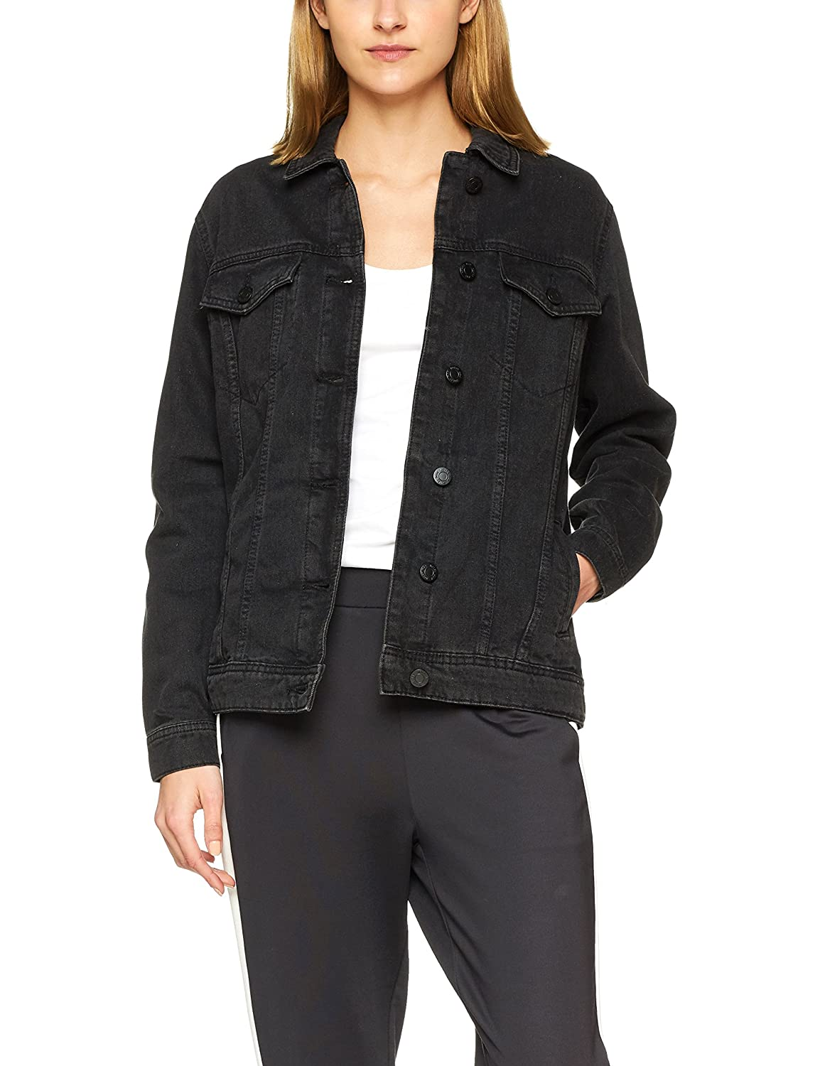 Noisy may Damen Nmole L//S Black Denim Jacket Noos Jeansjacke