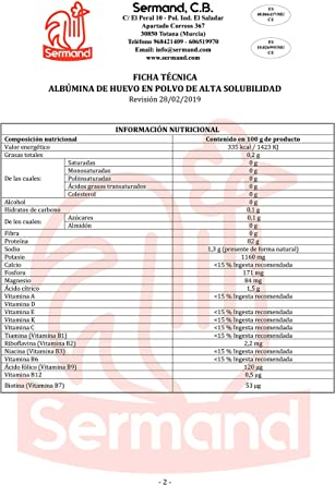 CLARA DE HUEVO EN POLVO 1KG (ALBUMINA)