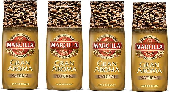 Marcilla - Gran Aroma Granos De Café Natural 250 g - [Pack de 4]: Amazon.es: Alimentación y bebidas