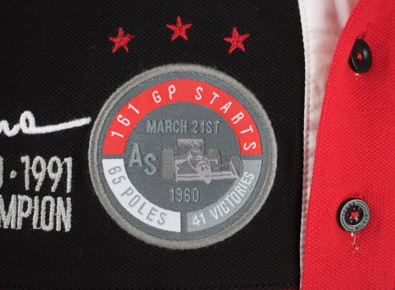MBA-SPORT Ayrton Senna Polo-Shirt 41 Victories