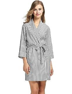 a841d1e7c5 Ekouaer Pajama Sets Womens Striped Comfort Long Sleeve Sleepwear With Pjs  Pants S-XXL