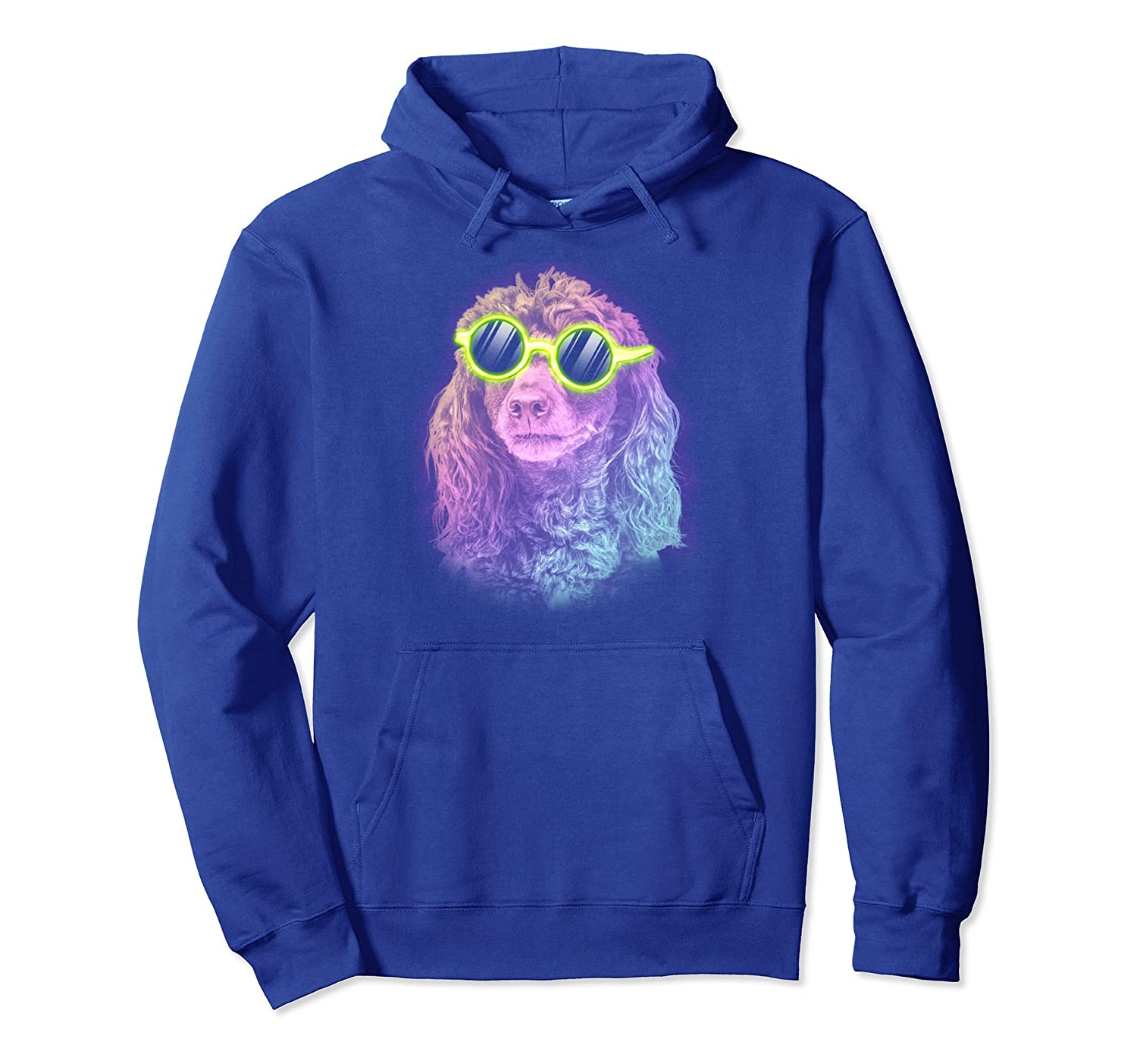 Disco Poodle Neon Dog Hoodie Funny Puppy Dog Themed Gifts- TPT