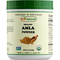 Best Naturals Certified Organic Amla Powder 8 OZ (240 Gram), Non-GMO Project Verified & USDA Certified Organic