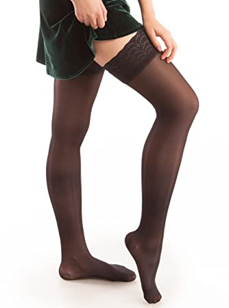 7a757dd58a Image Unavailable. Image not available for. Color: GABRIALLA Graduated  Compression Thigh Highs ...