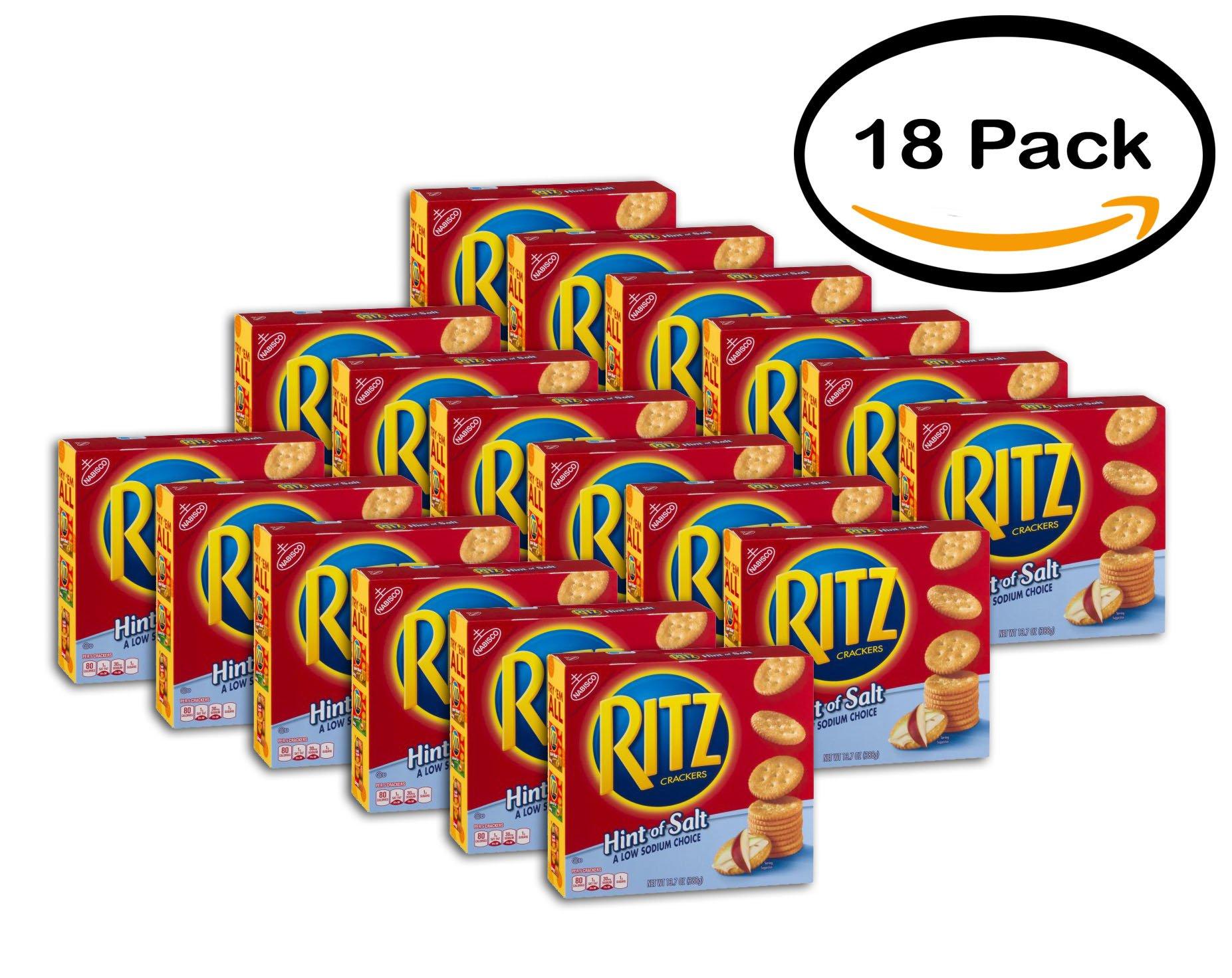 PACK OF 18 - Nabisco Ritz Crackers Hint Of Salt, 13.7 OZ by Ritz