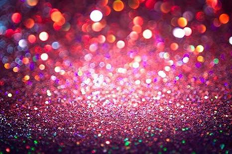 Neonato Glitter Fondale Fotografico Rosso Cristallo Puntini Sfondo