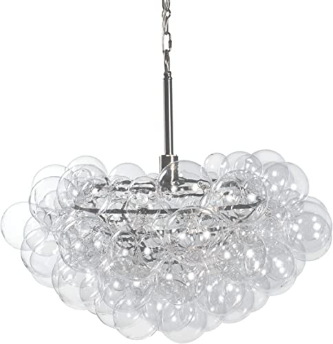 Regina Andrew Bubbles Chandelier Clear Ceiling Light Fixture with Single Socket 100 Watts Max E26 Keyless Base Bring a Whimsical Modern Touch to a Kitchen, Entryway or Foyer