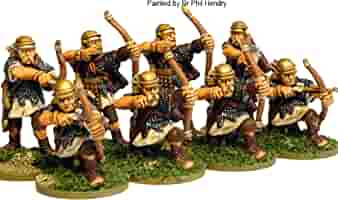 Pack Of 8 Imperial Roman Western Auxiliary Archer Miniatures by ...