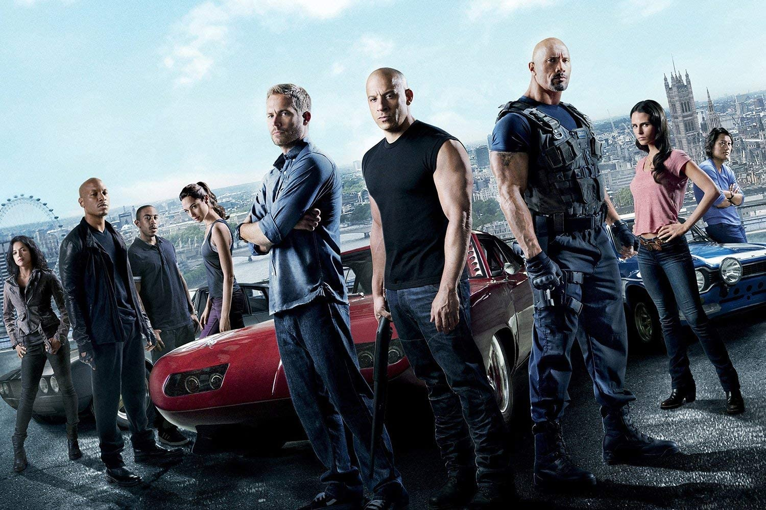 UpdateClassic Fast & Furious 6 (2013) Movie Poster Dwayne Johnson, Vin Diesel, Paul Walker, Michelle Rodriguez - Poster 11 x 17 inch Poster Print Frameless Art Gift 28 x 43 cm Matte Paper Surface