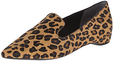f10d08ca6924 Rockport Women's Total Motion 30mm Hidden Wedge Smoking Loafer Brown Leopard  Hair On 10.5 M (